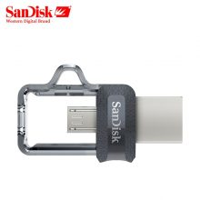 SanDisk USB 3.0 Dual OTG Pen Drive 32GB 64GB 128GB 150M/s USB Flash Drive 16GB U Disk for Android based device and computer