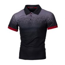 CYSINCOS Mens Polo Shirt Summer Short Sleeve Turn-over Collar Slim Tee Tops Casual Breathable Solid Color Business Sweatshirts